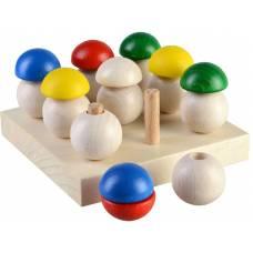 Деревянная игрушка Игра Грибная поляна 9 шляпок ТАТО срт-001