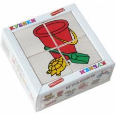 Деревянная игрушка Кубики Сложи рисунок: Игрушки KOMAROVTOYS Т 608