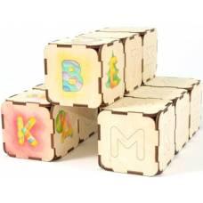 Деревянная игрушка Сборные кубики-умники WOODY В00198