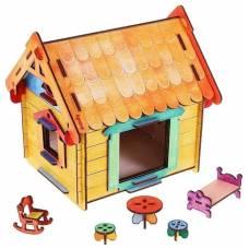 Деревянная игрушка Конструктор Мой дом WOODY В00204