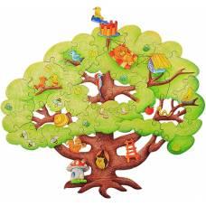 Деревянная игрушка Пазл Чудесное дерево WOODY В00280