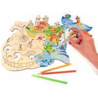 Деревянная игрушка Набор Чудо-юдо-рыба-кит WOODY В00556