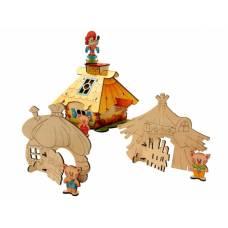 Деревянная игрушка Конструктор Три поросенка WOODY В00570