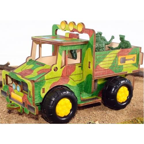 Деревянная игрушка Конструктор Грузовичок WOODY В00617