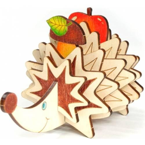 Деревянная игрушка Сборная фигурка Еж Тимофей WOODY В00693