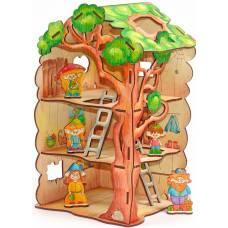 Деревянная игрушка Конструктор Дом-дерево для лешиков WOODY В00730