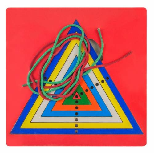 Деревянная игрушка Игра Радужная паутинка равносторонний треугольник ОКСВА 5-1-7