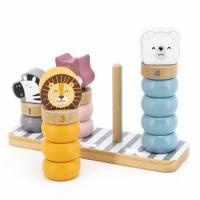 Набор для обучения Viga Toys PolarB пирамидка-сортер Зверята 44022
