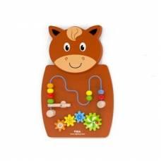 Игрушка настенная бизиборд Viga Toys Лошадь с лабиринтом 50678