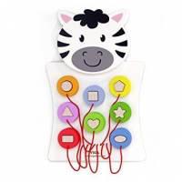Игрушка настенная Viga Toys Зебра с фигурками 50681