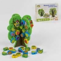 Деревянная игрушка Шнуровка Фруктовое Дерево Wooden Toys