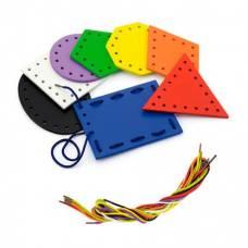 Шнуровка Viga Toys Геометрические фигуры 50538