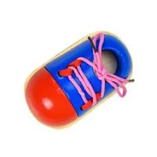 Деревянная игрушка Шнуровка Кед Woody CLR 319