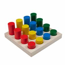 Сортер Цветные цилиндры. Методика Монтессори KOMAROVTOYS А312