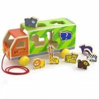 Игрушка-сортер Viga Toys Грузовик с животными 50344