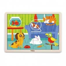 Пазл Viga Toys Домашние животные 51453