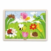 Пазл Viga Toys Насекомые, 16 элементов 51450