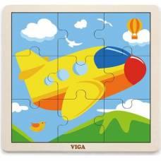 Пазл Viga Toys Самолет 51447