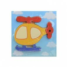 Деревянная игрушка Мини-пазл Вертолет Wooden Toys