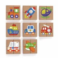 Магнитный пазл Viga Toys Транспорт 32 эл. 50723