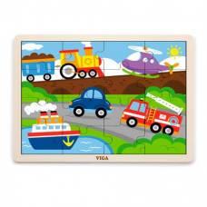 """Пазл Viga Toys """"Транспорт"""" 51456"""
