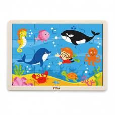 Пазл Viga Toys Морские обитатели, 16 элементов 51451