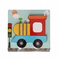 Деревянная игрушка Мини-пазл Паровозик Wooden Toys