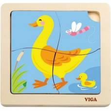 Пазл Viga Toys Утка 51314