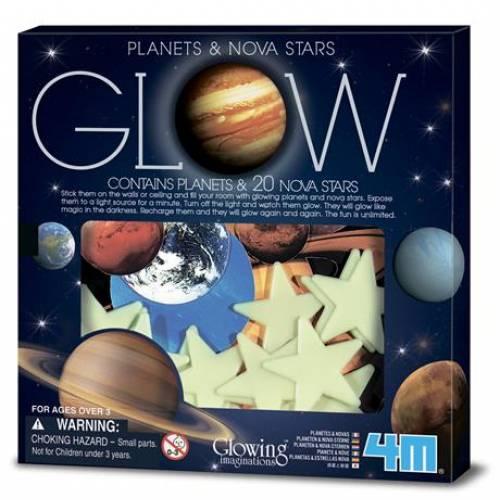 Игровой набор 4M Светящиеся наклейки Планеты и 20 звезд 00-05635