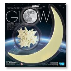 Игровой набор 4M Светящиеся наклейки Луна и звезды, 13 шт. 00-05215