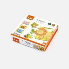 Деревянная игрушка  Набор пазлов Viga Toys Джунгли, 48 элементов 50068VG