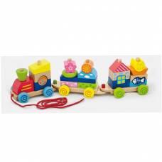 Деревянная игрушка  Игрушка-каталка Viga Toys Паровозик 50089