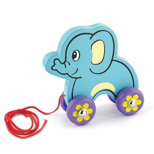 Деревянная игрушка  Игрушка-каталка Viga Toys Слоник 50091