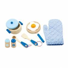 Деревянная игрушка  Игровой набор Viga Toys Маленький повар, голубой 50115