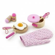 Деревянная игрушка  Набор Viga Toys Маленький повар, розовый 50116