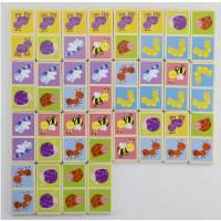 Деревянная игрушка  Настольная игра Viga Toys Домино Насекомые 50127VG