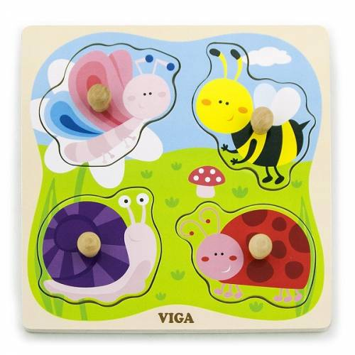 Деревянная игрушка  Пазл Viga Toys Насекомые 50131