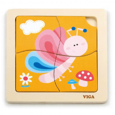 Деревянная игрушка  Пазл Viga Toys Бабочка 50136
