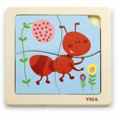 Деревянная игрушка  Пазл Viga Toys Муравей 50139