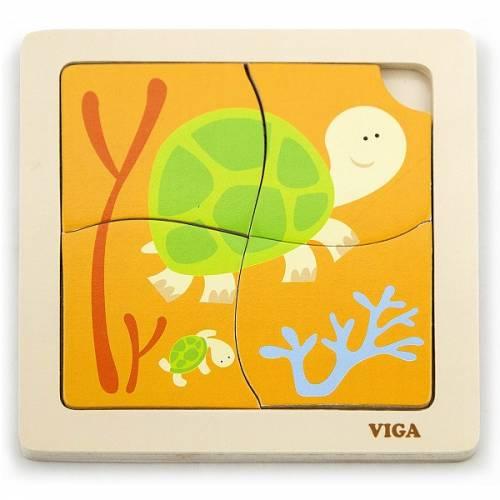 Деревянная игрушка  Пазл Viga Toys Черепашки 50143