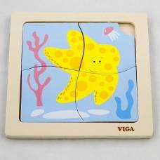 Деревянная игрушка  Пазл Viga Toys Морская звезда 50147