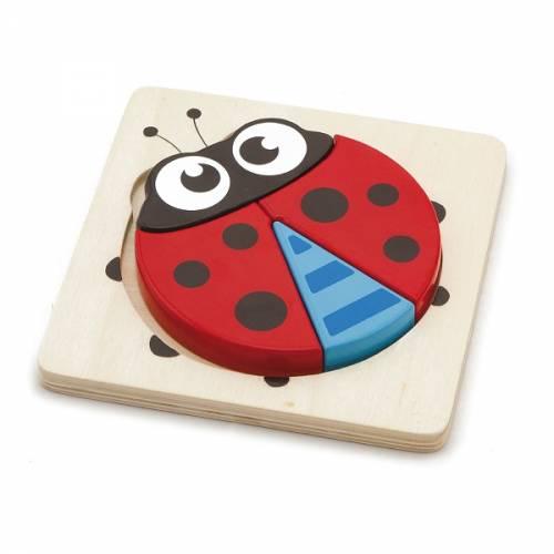 Деревянная игрушка  Мини-пазл Viga Toys Божья коровка 50168