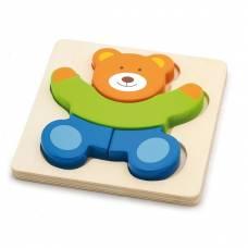 Деревянная игрушка  Мини-пазл Viga Toys Медведь 50169