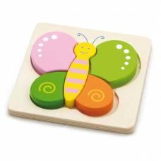 Деревянная игрушка  Мини-пазл Viga Toys Бабочка 50170