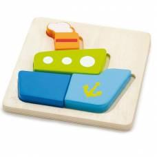 Деревянная игрушка  Мини-пазл Viga Toys Кораблик 50171