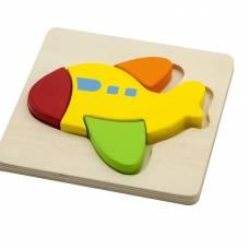 Деревянная игрушка  Мини-пазл Viga Toys Самолет 50173