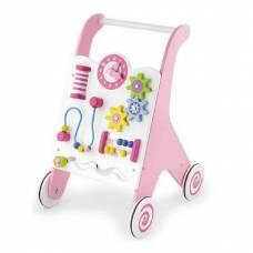Деревянная игрушка  Ходунки-каталка Viga Toys розовые 50178