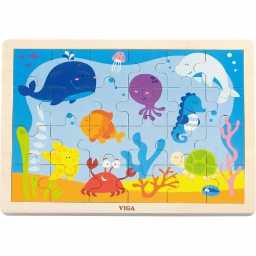 Деревянная игрушка  Пазл Viga Toys Океан, 24 элемента 50200