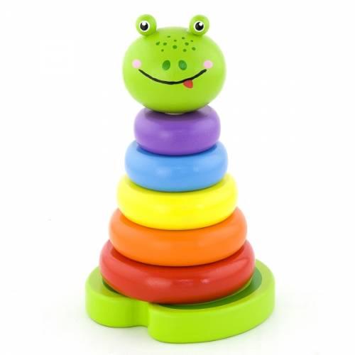 Деревянная игрушка  Пирамидка Viga Toys Лягушка 50258