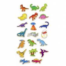 Деревянная игрушка  Набор магнитных фигурок Viga Toys Динозавры, 20 шт. 50289VG
